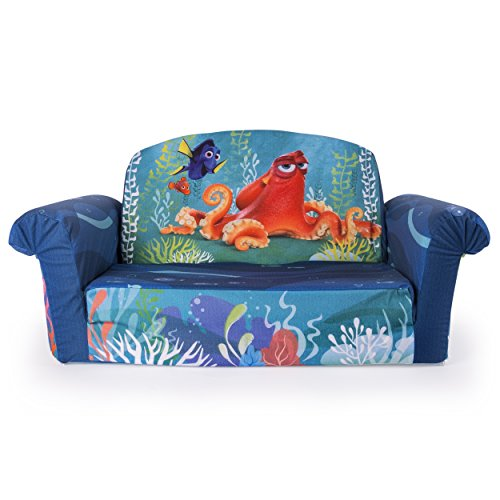 Back Open Sofa Seat 2 (Marshmallow Furniture, Children's 2 in 1 Flip Open Foam Sofa, Disney Pixar Finding Dory, by Spin Master)