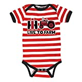 International Harvester Live To Farm Farmall Tractor Barn Infant Baby One Piece