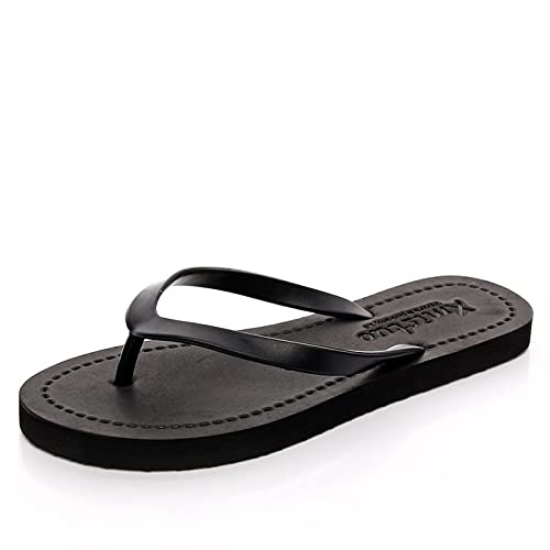fc8824cb4 CHENGXIAOXUAN Summer Flip Flops for Girls Simple Flat Non-Skid Sandals Flat  Heel Sandals and