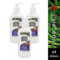 Paquete de 3-Crema Artesanal facial y Corporal Hidratante de Caléndula, Neem y Karite