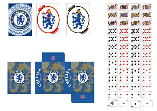Aachpp Chelsea Football Team Soccer Poker Size Standard Index Playing Cards (Chelsea, - Team Playing Cards