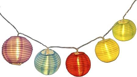 Battery LED Orange Rattan Wicker Balls LED Fairy Light String 3 Meters Long