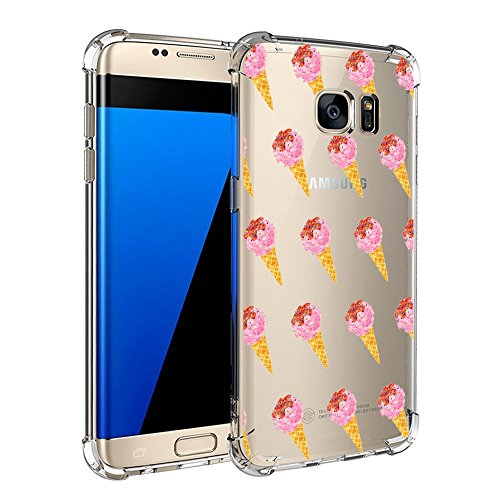Samsung Galaxy S7/S7 Edge Funda Pacyer® Cristal Claro Absorción Perro TPU Parte Trasera Dura Anti-Estático Anti-Rasguño Anti-Golpes Refuerzo de Grosor Evitar Caídas Transparente 4