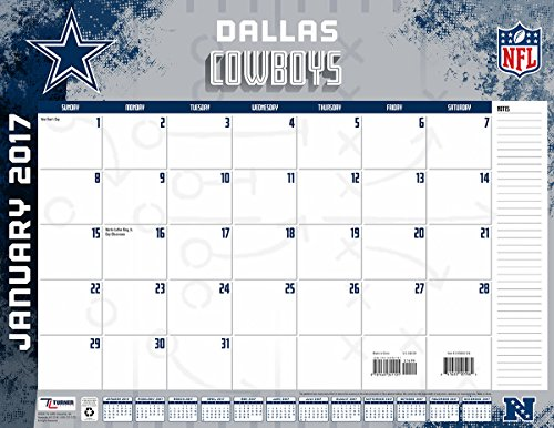 "Turner Licensing Sport 2017 Dallas Cowboys Desk Pad Calendar, 22""X17"" (17998061534)"