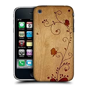 Head Case Swirl Wood Art Design Snap-on Back Case Cover for Apple iPhone 3G 3GS