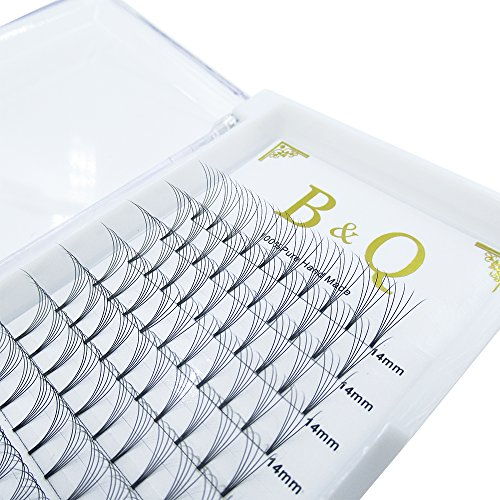 Premade Volume Fans Eyelash Extensions 12 Rows/Tray Short Stem Russian Volumes Lashes Extensions Fans C/D Curl 0.07/0.10 Thickness Individual Cluster Eyelash Extensions (5D-D curl-0.07, 15mm)