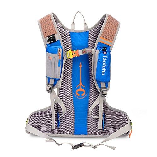 Fahrrad Rucksäcke 12L Groß Volumen Outdoor Schultasche integriert Nacht Sicherheit Reflektierende Streifen Rucksack perfeckt für Radsport Jogging Wanderung Outdoor Sport Skateboard Bergsteigen usw. Blau sNpO7PBsCu