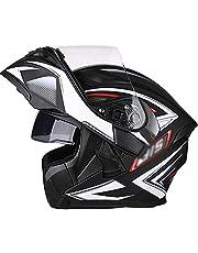 Flip Up Modular Full Face Helmet,Men Women Snowmobile Helmets with Double Visor Modular Integrated Motorcycle Helmet,DOT/ECE Certified Cruiser Chopper Helmets Four Seasons
