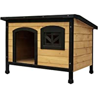 i.Pet Extra Large Dog House Pet Kennel Wooden Timber Elevated Outdoor Garden with Window