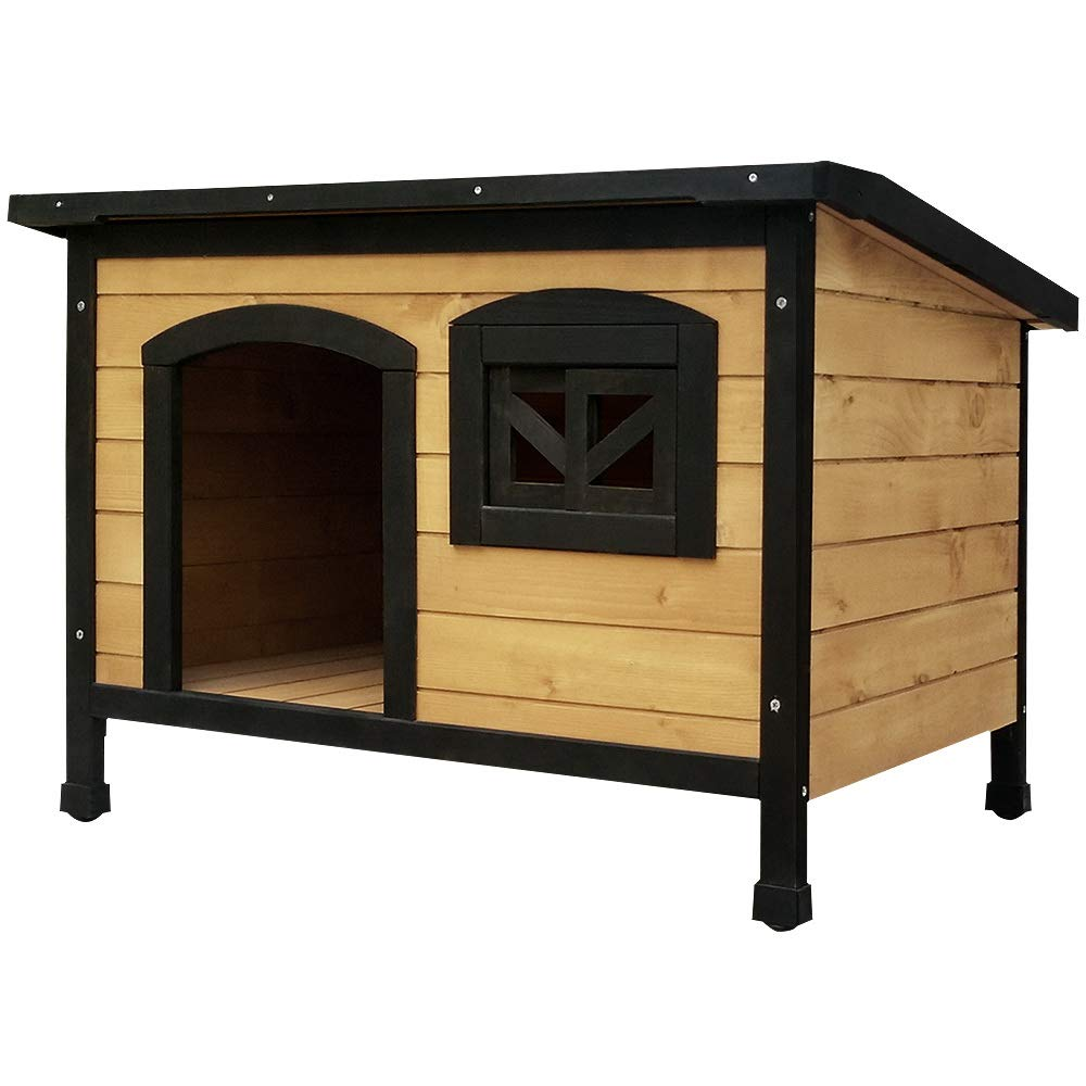 DH5-L Pet Dog Kennel House Timber Wooden Log Cabin Wood Indoor Outdoor Summer XLarge