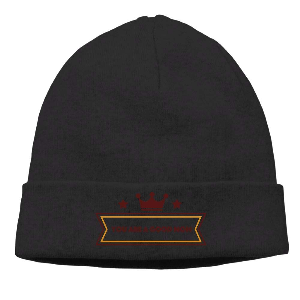 nordic runes You are A Good Mom Logo Beanie Hat Winter Warm Knit Skull Cap for Mens//Womens