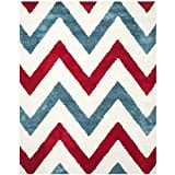 Cheap Safavieh Kids Shag Collection SGK564B Ivory and Red Area Rug (8′ x 10′)