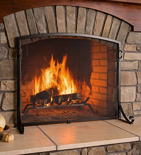 Arched Top Flat Guard Fireplace Screen, Small - (Flat Fireplace Guard)