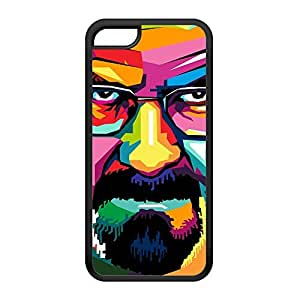 Heisenberg WPAP Portrait 02 Black Silicon Rubber Case for iPhone 5C by UltraCases + FREE Crystal Clear Screen Protector