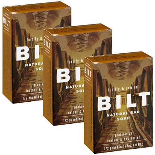 BILT Natural Bar Soap for Men 8 oz, Prohibition