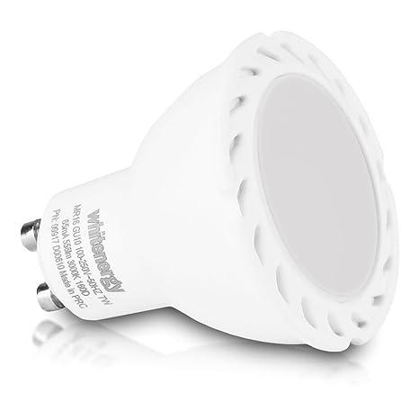 WHITENERGY 09917 MR16 GU10 7 W bombilla LED de pinchos para mazorcas de, blanco cálido