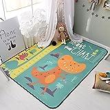Cartoon Dinosaur Rugs Children - Anti-slip Baby Crawling Rugs Living Room Bedroom Area Rugs 71 X 77 Inch