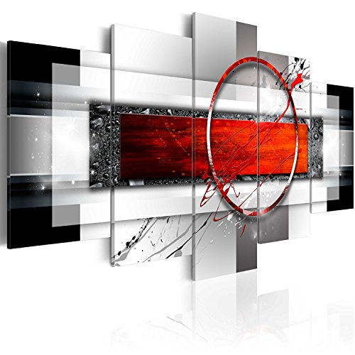 murando - Cuadro en Lienzo Absracto Moderno 100x50 cm Impresion de 5 Piezas Material Tejido no Tejido Impresion Artistica Imagen Grafica Decoracion de Pared Arte a-A-0052-b-n
