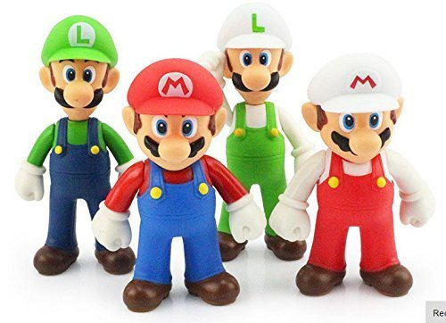 Super Mario Bros Mario 4pcs/set Pvc Action Figures Toys Doll Kids Gift