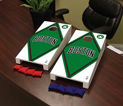 Victory Tailgate Boston Celtics NBA Basketball Desktop Cornhole Game Set Diamond Version by Victory Tailgate