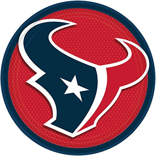 ''Houston Texans Collection'' 9'' Round, Party Plates, 48 Ct.