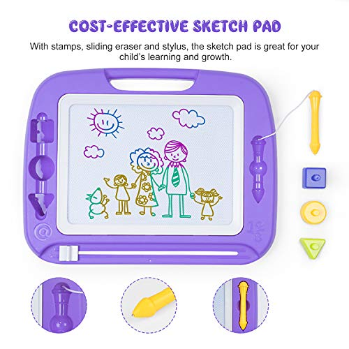 """SGILE Large Magna Doodle Board Toy for Kids, 13X17"""" Magnetic Drawing Tablet Erasable Pad for Painting Writing Learning Kids Toddler Boy Girl Birthday Gift Present, Extra Large"""