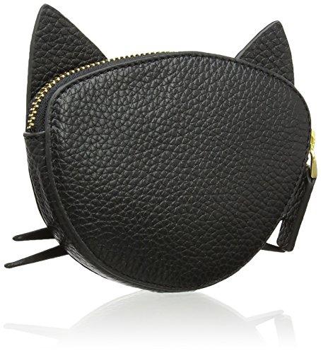 Lulu Guinness Kooky Cat - Portamonete Donna, Black, 2x10x130 cm (W x H L)