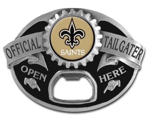 NFL Tailgater Buckle - New Orleans Saints NFL Tailgater Buckle - New Orleans Saints - Bullet Logo Belt Buckle