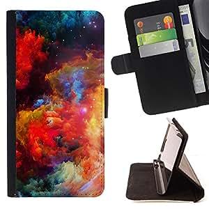 - DUST COSMOS COLORS GALAXY BRIGHT UNIVERSE - - Prima caja de la PU billetera de cuero con ranuras para tarjetas, efectivo desmontable correa para l Funny HouseFOR LG G3