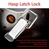 4Pcs Latch Hasps Stainless Steel Durable Metal