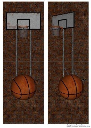 Simple baloncesto Tarjeta Toppers por Tammy Clarke: Amazon.es: Hogar