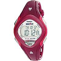 Timex Ironman Sleek Plastic Quartz Sport Womens Watch (Pink)
