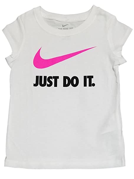 e7563eec Nike Toddler Girls Just Do It Swoosh T Shirt (White, 3T): Amazon.ca:  Clothing & Accessories