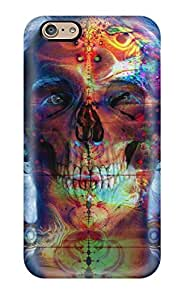 GLi32016YsZg Cases Covers Protector For Iphone 6 Psychedelic Skull Cases