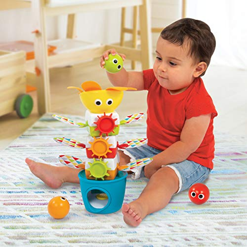 Yookidoo Tumble Ball Stacker. Babies and Toddlers Musical Stacking and Tumbling Toy. Battery Operated STEM Enhancing Game for Toddlers 9-Month and Up.