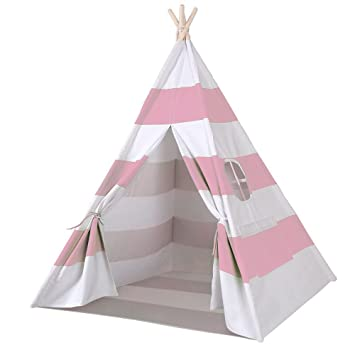 Funkatron Indoor Indian Playhouse Toy Teepee Play Tent for Kids Toddlers Canvas with Carry Case  sc 1 st  Amazon.com & Amazon.com: Funkatron Indoor Indian Playhouse Toy Teepee Play Tent ...