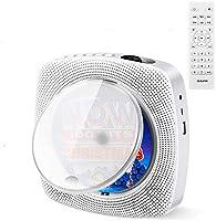 CDプレーヤー ポータブル 置き&壁掛け式 CDラジオ Bluetooth/CD/FM/USB/A対応 日本語説明書付き