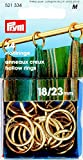 Prym 18/23 mm Brass Hollow Rings, Pack of 24, Gold