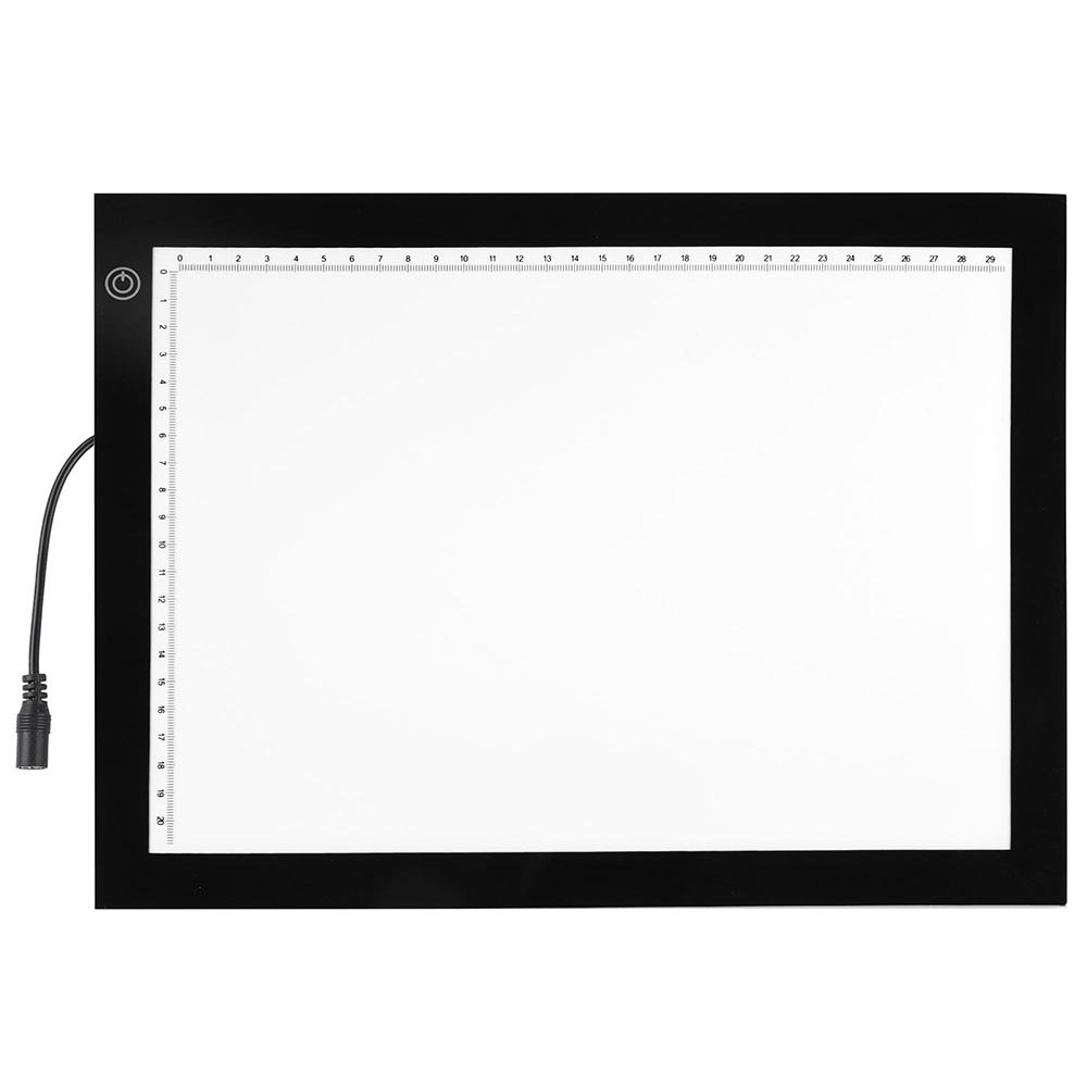 14'' 4.5 W LED Tracing Stencil Board Dimmable Touch Switch Smart Brightness Memory Eye-Protective Technology 360° Rotating 7 Stages Height Adjustable Pad US Delivery(14''L x 10 3/4''W x 1/3''H) by ZeHuoGe (Image #5)