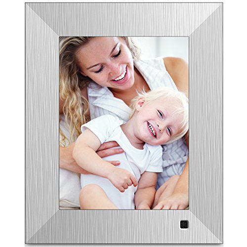 NIX Lux 8 Inch Hi-Res Digital Photo & HD Video Frame (Non-WiFi), With Hu-Motion Sensor – Metal (X08F)