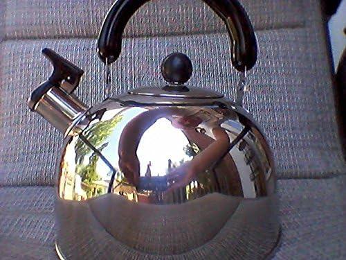 blanco Stove Top Hervidor de agua silbador 3L de acero inoxidable con mango aislante jarra de agua azul//negro//blanco para cocina de inducci/ón de gas