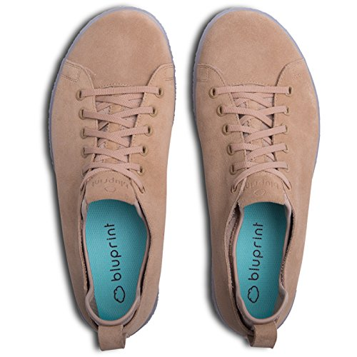 BluPrint Los Angeles Herren Wildleder Casual Athletic / Freizeit Sneaker mit BluPrint CLOUD IMPRINT Komfort Technologie - Größe 7 - Sand