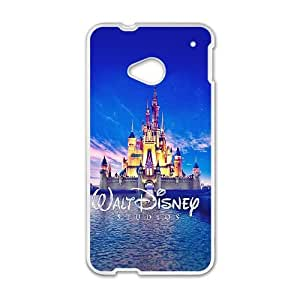 HTC One M7 Cell Phone Case White Walt Disney Studios Castle Illust VIU934096