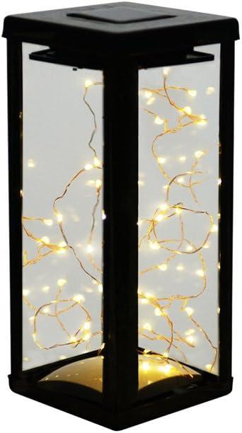 Solarbuy24 Lámpara solar de mesa de metal con luces solares de ...