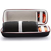 For JBL Charge 3 Wireless Bluetooth Portable Speaker Hard Case Travel Carrying Storage Bag. Fits USB Cable and Wall Charger-Black