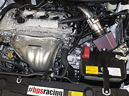 HPS 27-508R Red Short Ram Air Intake Kit Non-CARB Compliant