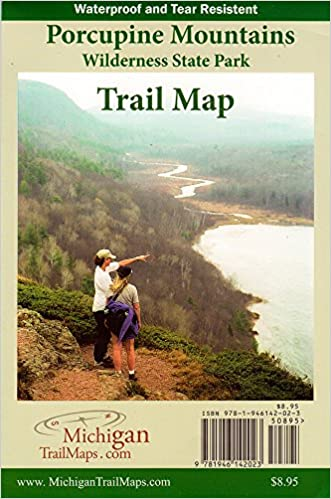 Porcupine Mountains Wilderness State Park, Trail Map: Jim DuFresne on