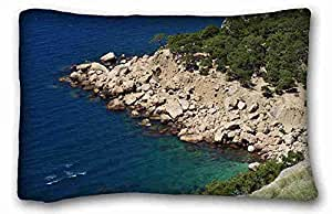 Custom Characteristic Nature Custom Cotton & Polyester Soft Rectangle Pillow Case Cover 20x30 inches (One Side) suitable for California King-bed