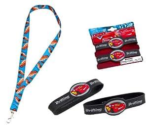 Joy Toy 61113 / 61139 Disney Cars 2 - Cinta llavero y pulseras de goma con diseño de Rayo McQueen