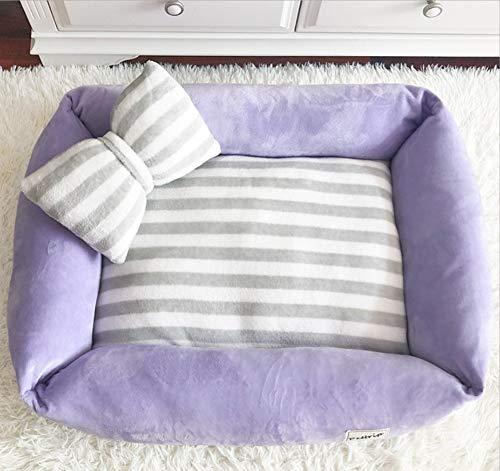 B S(50X40CM) B S(50X40CM) GZDXHN Dog House Winter Warm Dog Kennel Plus Velvet Kennel Puppies Nest Small Dog Kennel Cat Litter Pet Nest Kennel Washable Dog Bed